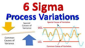 What are the different kinds of variations used in Six Sigma?